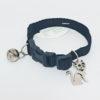 Collar Riata Gato Cascabel Negro